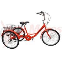 Triciclu Pegas Senior 6v rosu bomboana