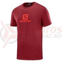 Tricou activitati urbane Salomon Coton Logo SS Tee biking red barbati