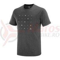 Tricou alergare barbati Salomon Agile Graphic TEE Black/Ebony