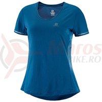 Tricou alergare Salomon Agile SS Tee albastru femei