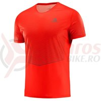 Tricou alergare Salomon Sense Tee fiery red/biking red barbati