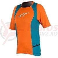 Tricou Alpinestars Stella Drop 2 S/S Jersey bright orange/ocean