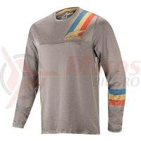 Tricou Alpinestars Alps 4.0 LS Jersey Melange Grey/Blue Red