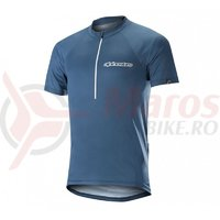 Tricou Alpinestars Elite S/S Jersey poseidon blue white
