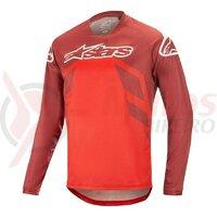 Tricou Alpinestars Racer V2 LS Burgundy/Red/White