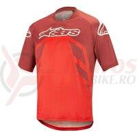 Tricou Alpinestars Racer V2 SS Burgundy/Red/White