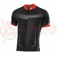 Tricou barbat Kross Black Edition red