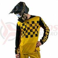 Tricou bicicleta Nukeproof Kashmir negru/galben