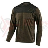 Tricou bicicleta Troy Lee Designs Flowline LS Shield walnut/charcoal 2020