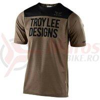 Tricou bicicleta Troy Lee Designs Skyline SS Pinstripe Block Walnut/Black 2020