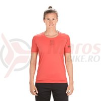 Tricou ciclism Cube AM WS round-neck S/S coral