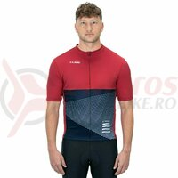 Tricou Ciclism Cube ATX Jersey Full Zip red