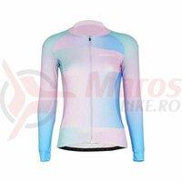 Tricou Ciclism Dame Darevie Albastru/Roz