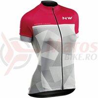 Tricou ciclism dame Northwave Origin WMN roz/gri