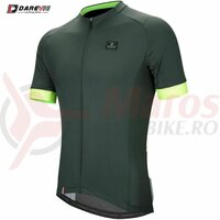 Tricou Ciclism Darevie Olive/Verde Neon Anti-Bacterial
