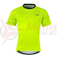 Tricou ciclism Force City Fluo/negru