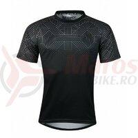 Tricou ciclism Force City, negru/gri