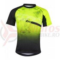 Tricou ciclism Force MTB Core, fluo/negru
