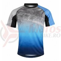 Tricou ciclism Force MTB Core, gri/albastru