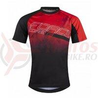 Tricou ciclism Force MTB Core, rosu/negru