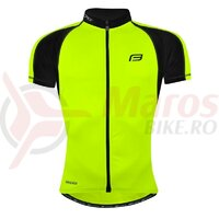 Tricou ciclism Force T10 fluo-Negru