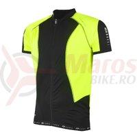 Tricou ciclism Force T12 negru/fluo