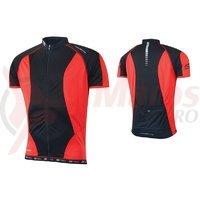 Tricou ciclism Force T12 negru/rosu