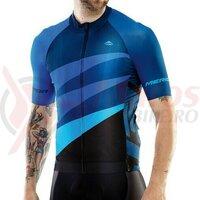 Tricou ciclism Merida 422 long zip Blue CX Design (Pro line)