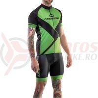 Tricou ciclism Merida Rombus Design scurt verde/negru fermoar lung