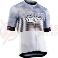Tricou ciclism NORTHWAVE BLADE AIR scurt alb/negru