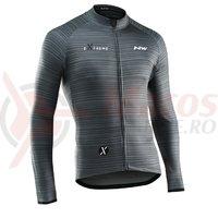 Tricou ciclism Northwave Extreme 4 lung khaki-negru