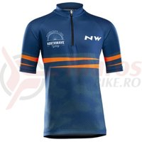 Tricou ciclism Northwave Origin Junior albastru/orange