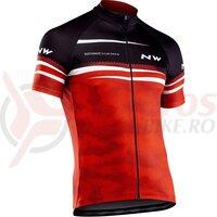 Tricou ciclism Northwave Origin rosu/negru/alb