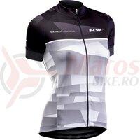 Tricou ciclism Northwave Origin WMN negru/gri