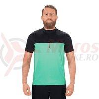 tricou ciclism Square Active S/S verde/negru