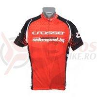 Tricou Crosser rosu/negru
