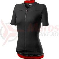 Tricou cu maneca scurta Castelli Anima 3 Dama Marine Black/Red
