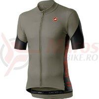 Tricou cu maneca scurta Castelli Entrata V Bark Green/Black/Red