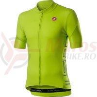 Tricou cu maneca scurta Castelli Entrata verde neon