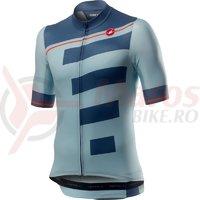 Tricou cu maneca scurta Castelli Trofeo albastru deschis/bleumarin