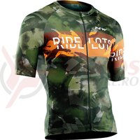 Tricou cu maneca scurta Northwave Blade forest/orange