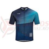 Tricou Cube ATX jersey full zip S/S Blue