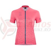 Tricou Cube ATX WS jersey full zip S/S coral