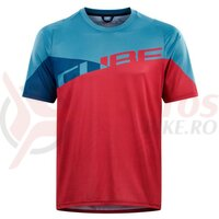 Tricou Cube Edge Round Neck Jersey S/S Pink Blue
