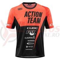 Tricou Cube Edge Round Neck Jersey S/S X Actionteam Orange Black