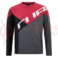 Tricou Cube Junior Jersey L/S Black Red