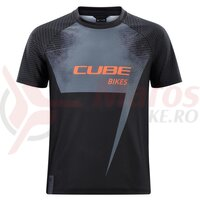 Tricou Cube Junior Jersey S/S Black Orange