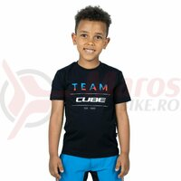 Tricou Cube Junior Organic T-Shirt Team Black