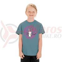Tricou Cube Junior T-Shirt Rabbit dark mint