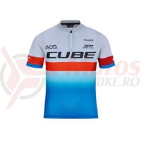 Tricou Cube Junior Teamline BLue Red Grey